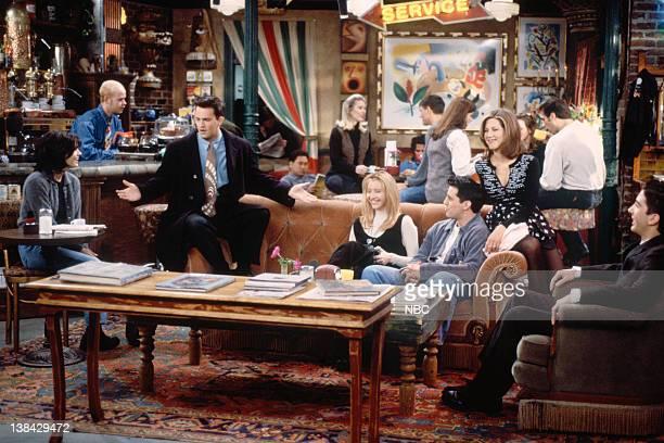 FRIENDS The One After the Superbowl Episode 12 Pictured Courteney Cox Arquette as Monica Geller Matthew Perry as Chandler Bing Lisa Kudrow as Phoebe...