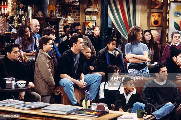 FRIENDS The One After the Superbowl Episode 12 Pictured Matt LeBlanc as Joey Tribbiani Matthew Perry as Chandler Bing Jennifer Aniston as Rachel...