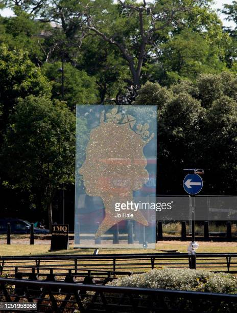 The One Million Queen plaque in Park Lane next to Hyde Park on June 24, 2020 in London, United Kingdom.