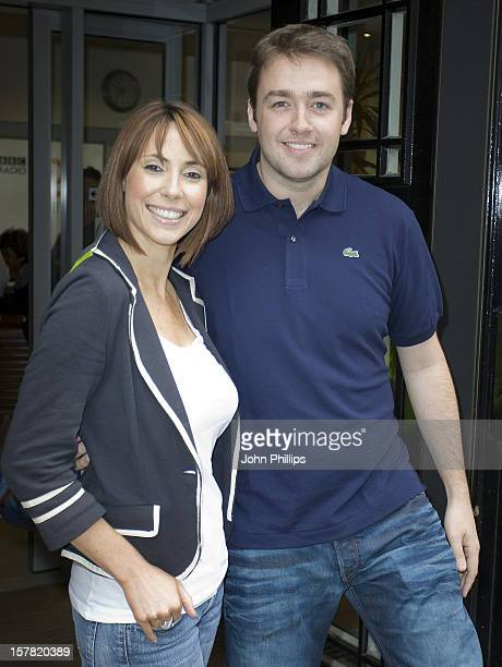 The One Show'S New Presenters Alex Jones And Jason Manford After The Chris Evans' Radio Show Western House Great Portland Street London