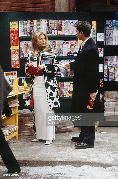 """The One That Could Have Been: Part 1, 2"""" Episode 15, 16 -- Pictured: Jennifer Aniston as Rachel Green, David Schwimmer as Ross Geller"""
