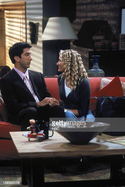 """The One That Could Have Been: Part 1/Part 2"""" Episode 15/16 -- Aired -- Pictured: David Schwimmer as Ross Geller, Jane Sibbett as Carol Willick"""