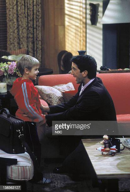 """The One That Could Have Been: Part 1/Part 2"""" Episode 15/16 -- Aired -- Pictured: Cole Sprouse as Ben Geller, David Schwimmer as Ross Geller"""