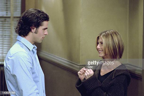 FRIENDS The One Where Chandler Doesn't Like Dogs Episode 8 Aired Pictured Eddie Cahill as Tag Jones Jennifer Aniston as Rachel Green Photo by NBCU...