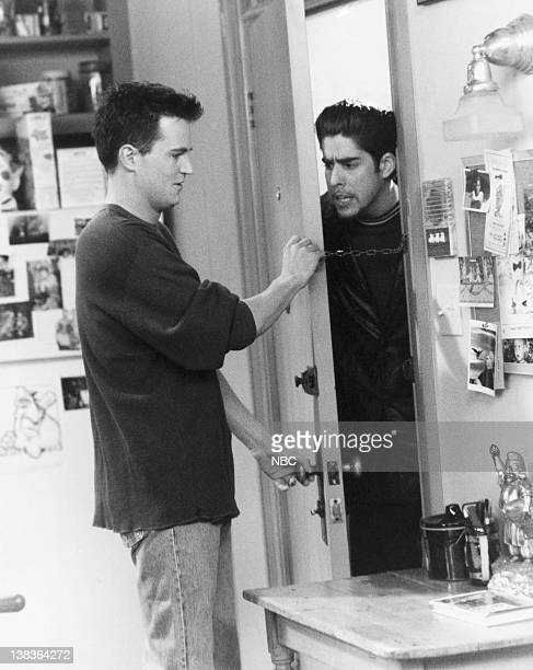 FRIENDS 'The One Where Eddie Won't Go' Episode 19 Air Date Pictured Matthew Perry as Chandler Bing Adam Goldberg as Eddie Menuek
