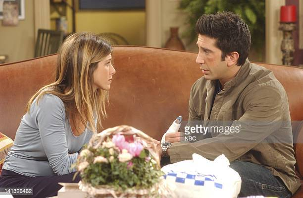 FRIENDS 'The One Where Emma Cries' Episode 2 Aired 10/3/2002 Pictured Jennifer Aniston as Rachel Green David Schwimmer as Dr Ross Geller Photo by...