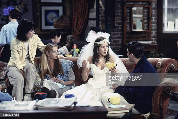 FRIENDS The One Where Monica Gets a Roommate Episode 1 Aired 9/22/1994 Pictured Courteney Cox as Monica Geller Lisa Kudrow as Phoebe Buffay Jennifer...