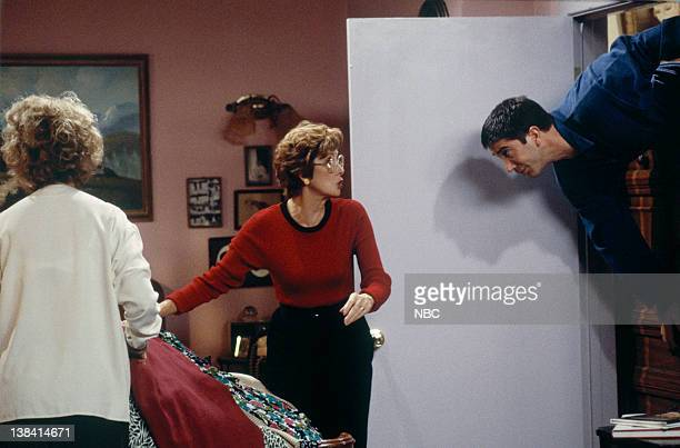 FRIENDS The One Where Nana Dies Twice Episode 8 Pictured Christina Pickles as Judy Geller Elinor Donahue as Aunt Lillian David Schwimmer as Ross...