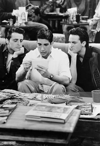 FRIENDS 'The One Where Rachel Finds Out' Episode 24 Air Date Pictured Matt LeBlanc as Joey Tribbiani David Schwimmer as Ross Geller Matthew Perry as...