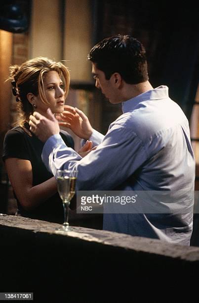 FRIENDS 'The One Where Rachel Finds Out' Episode 24 Pictured Jennifer Aniston as Rachel Green David Schwimmer as Ross Geller