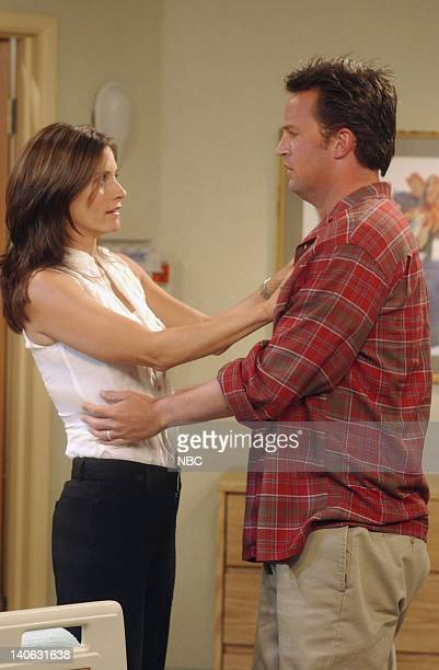 FRIENDS The One Where Rachel Has A Baby Part 1 Episode 23 Aired 5/16/2002 Pictured Courteney Cox as Monica GellerBing Matthew Perry as Chandler Bing...