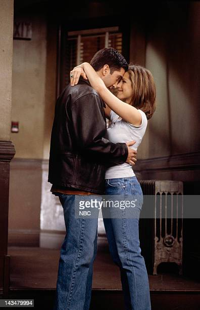FRIENDS The One Where Ross and RachelYou Know Episode 15 Pictured David Schwimmer as Ross Geller Jennifer Aniston as Rachel Green