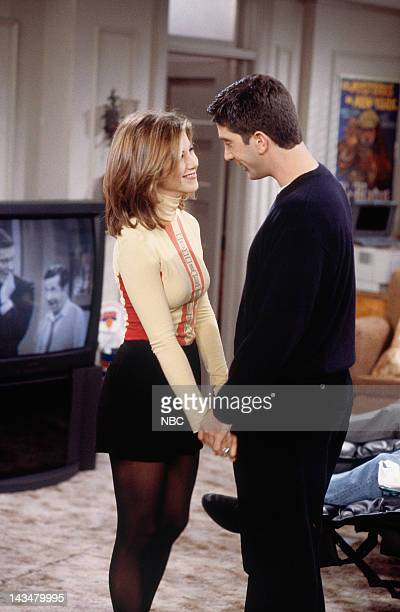 FRIENDS The One Where Ross and RachelYou Know Episode 15 Pictured Jennifer Aniston as Rachel Green David Schwimmer as Ross Geller
