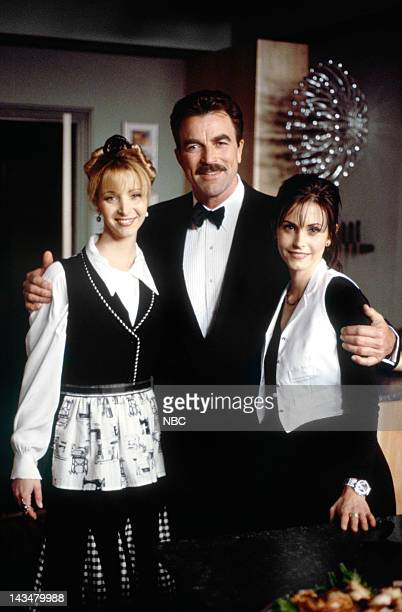 FRIENDS The One Where Ross and RachelYou Know Episode 15 Pictured Lisa Kudrow as Phoebe Buffay Tom Selleck as Dr Richard Burke Courteney Cox Arquette...