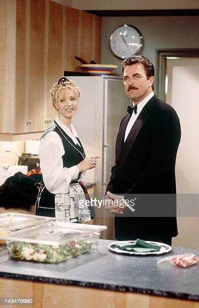 FRIENDS The One Where Ross and RachelYou Know Episode 15 Pictured Lisa Kudrow as Phoebe Buffay Tom Selleck as Dr Richard Burke