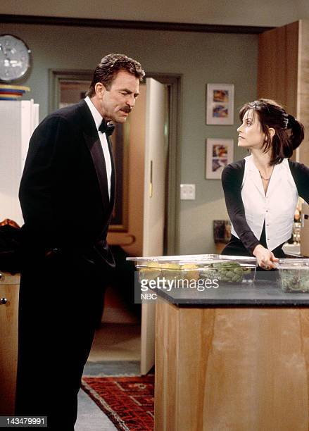 FRIENDS The One Where Ross and RachelYou Know Episode 15 Pictured Tom Selleck as Dr Richard Burke Courteney Cox as Monica Geller