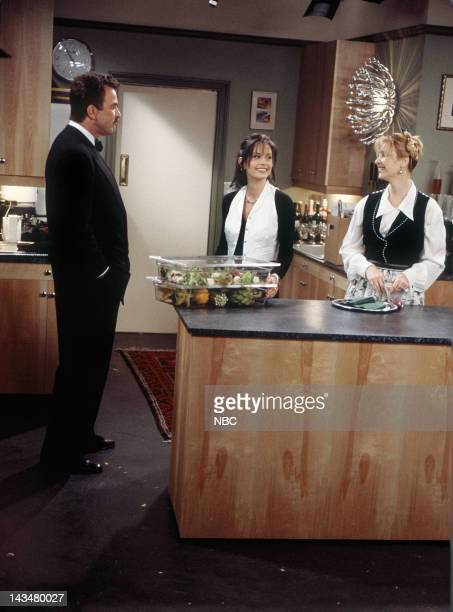 FRIENDS The One Where Ross and RachelYou Know Episode 15 Pictured Tom Selleck as Dr Richard Burke Courteney Cox as Monica Geller Lisa Kudrow as...