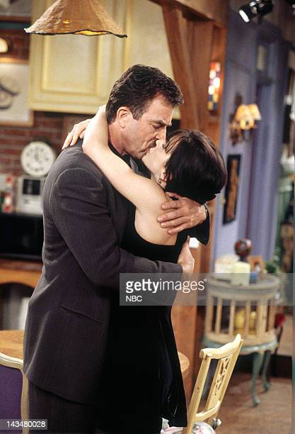 FRIENDS The One Where Ross and RachelYou Know Episode 15 Pictured Tom Selleck as Dr Richard Burke Courteney Cox Arquette as Monica Geller