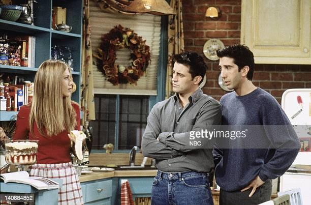 FRIENDS 'The One Where Ross Got High' Epsiode 9 Aired 11/25/99 Pictured Jennifer Aniston as Rachel Green Matt LeBlanc as Joey Tribbiani David...