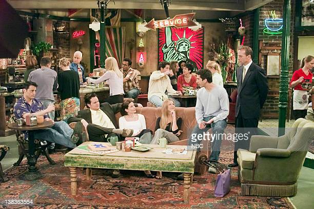 FRIENDS The One Where Ross Meets Elizabeth's Dad Episode 21 Aired 4/27/2000 Pictured Matt LeBlanc as Joey Tribbiani Matthew Perry as Chandler Bing...