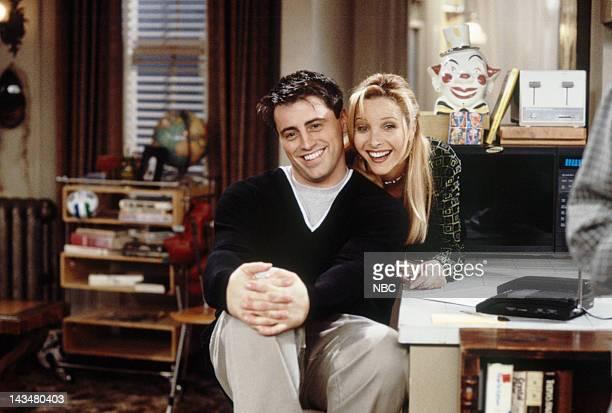 FRIENDS 'The One with All the Jealousy' Episode 12 Pictured Matt LeBlanc as Joey Tribbiani Lisa Kudrow as Phoebe Buffay
