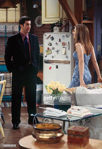FRIENDS 'The One with All the Wedding Dresses' Episode 20 Pictured David Schwimmer as Ross Geller Jennifer Aniston as Rachel Green