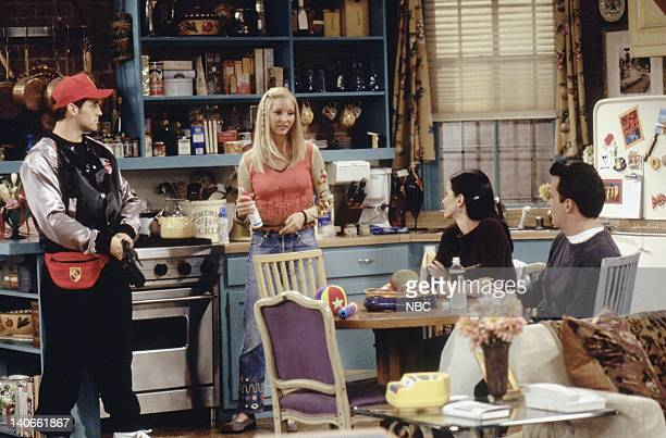 FRIENDS 'The One With Joey's Porsche' Episode 5 Aired Pictured Matt LeBlanc as Joey Tribbiani Lisa Kudrow as Phoebe Buffay Courteney Cox Arquette as...