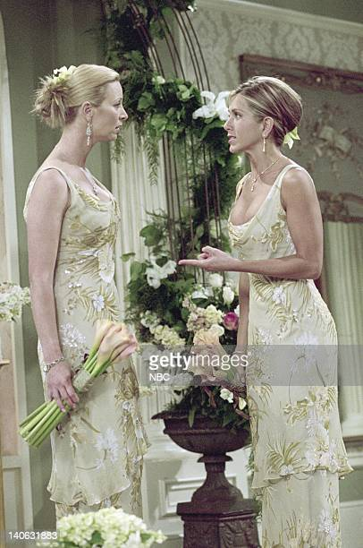 FRIENDS The One With Monica And Chandler's Wedding Episode 24 Aired 5/17/2001 Pictured Lisa Kudrow as Phoebe Buffay Jennifer Aniston as Rachel Green...