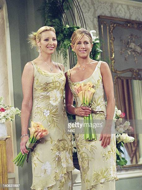 FRIENDS 'The One With Monica And Chandler's Wedding' Episode 24 Aired 5/17/2001 Pictured Lisa Kudrow as Phoebe Buffay Jennifer Aniston as Rachel...