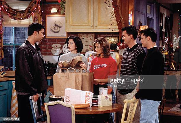 FRIENDS The One with Phoebe's Dad Episode 9 Pictured David Schwimmer as Ross Geller Courteney Cox Arquette as Monica Geller Jennifer Aniston as...