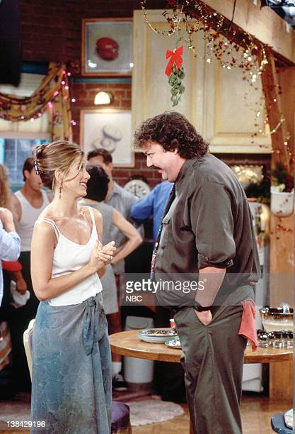 FRIENDS The One with Phoebe's Dad Episode 9 Pictured Jennifer Aniston as Rachel Green Michael G Hagerty as Mr Treeger