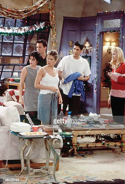 FRIENDS The One with Phoebe's Dad Episode 9 Pictured Jennifer Aniston as Rachel Green Courteney Cox Arquette as Monica Geller Matthew Perry as...