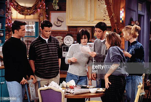 FRIENDS The One with Phoebe's Dad Episode 9 Pictured Matt LeBlanc as Joey Tribbiani Matthew Perry as Chandler Bing Courteney Cox Arquette as Monica...