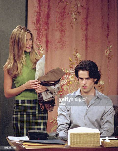 FRIENDS The One With Rachel's Assistant Episode 4 Aired Pictured Jennifer Aniston as Rachel Green Eddie Cahill as Tag Jones Photo by NBCU Photo Bank