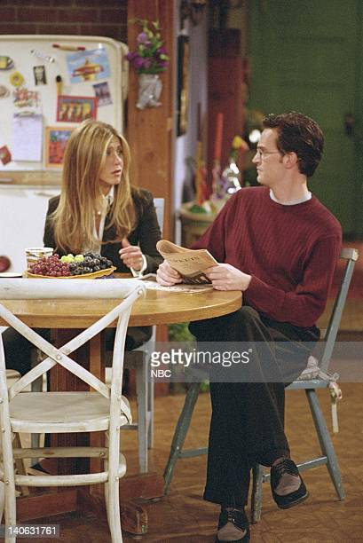 FRIENDS The One With Rachel's Assistant Episode 4 Aired Pictured Jennifer Aniston as Rachel Green Matthew Perry as Chandler Bing Photo by NBCU Photo...