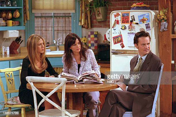 FRIENDS The One with Rachel's Book Episode 2 Aired Pictured Jennifer Aniston as Rachel Green Courteney Cox as Monica Geller Matthew Perry as Chandler...