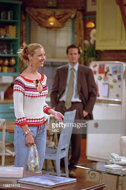 FRIENDS 'The One with Rachel's Book' Episode 2 Aired Pictured Lisa Kudrow as Phoebe Buffay Matthew Perry as Chandler Bing