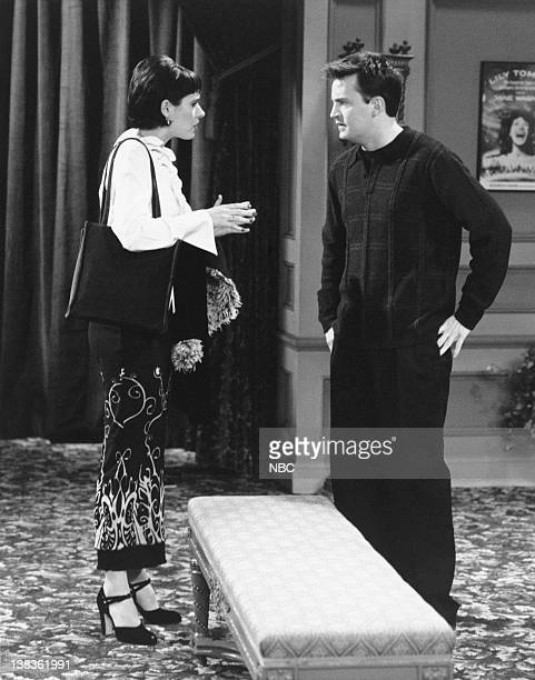 FRIENDS The One with Rachel's Crush Episode 13 Air Date Pictured Paget Brewster as Kathy Matthew Perry as Chandler Bing