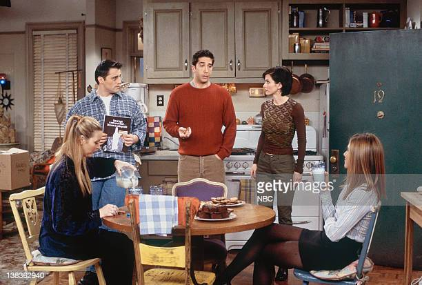 FRIENDS 'The One with Rachel's Crush' Episode 13 Pictured Lisa Kudrow as Phoebe Buffay Matt LeBlanc as Joey Tribbiani David Schwimmer as Ross Geller...