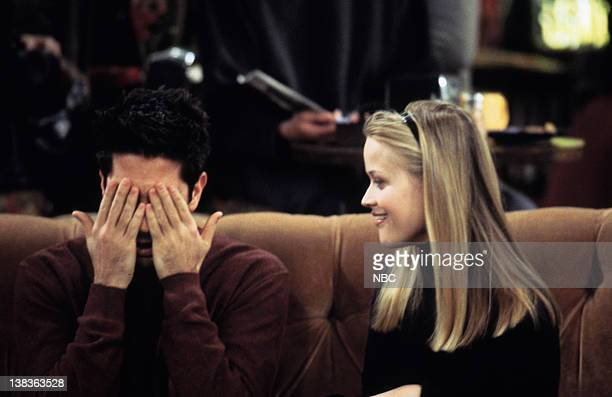 FRIENDS The One with Rachel's Sister Episode 13 Aired 2/3/2000 Pictured David Schwimmer as Ross Geller Reese Witherspoon as Jill Green