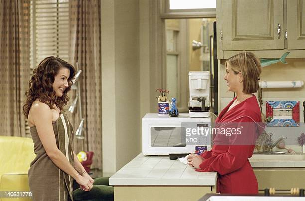 FRIENDS The One With Ross' Library Book Episode 7 Aired Pictured Kristin Davis as Erin Jennifer Aniston as Rachel Green Photo by NBCU Photo Bank