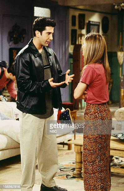 FRIENDS 'The One With Ross's Wedding Part 1' Episode 23 Pictured David Schwimmer as Ross Geller Jennifer Aniston as Rachel Green