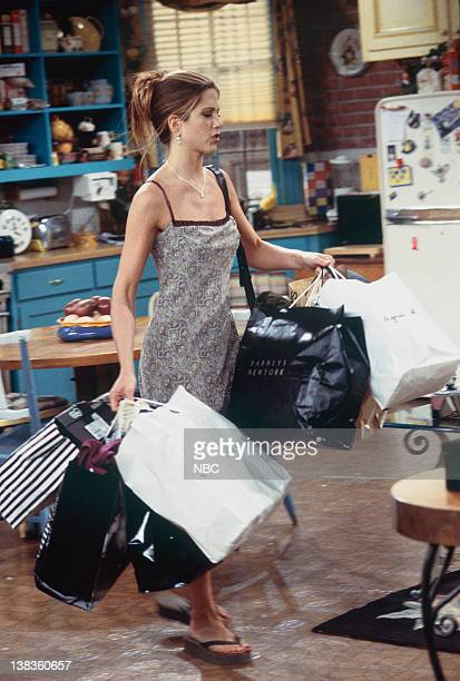FRIENDS 'The One with Ross's Wedding Part 1' Episode 23 Pictured Jennifer Aniston as Rachel Green