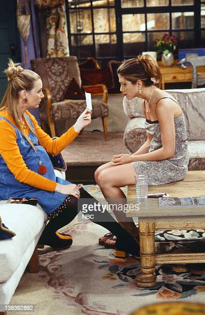 FRIENDS 'The One With Ross's Wedding Part 1' Episode 23 Pictured Lisa Kudrow as Phoebe Buffay Jennifer Aniston as Rachel Green
