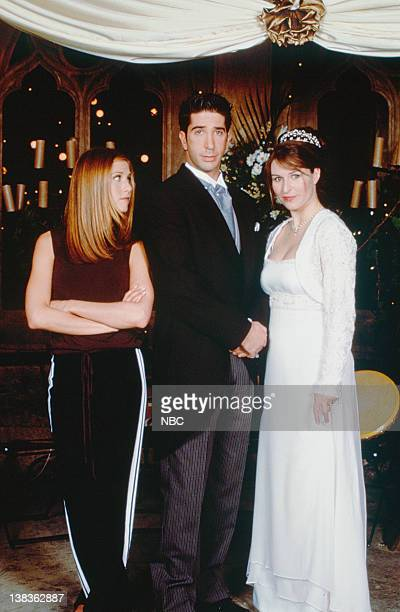 FRIENDS 'The One with Ross's Wedding Part 2' Episode 24 Pictured Jennifer Aniston as Rachel Green David Schwimmer as Ross Geller Helen Baxendale as...