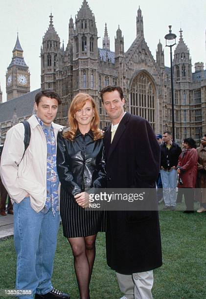 FRIENDS 'The One with Ross's Wedding Part 2' Episode 24 Pictured Matt LeBlanc as Joey Tribbiani Sarah Ferguson as Herself Matthew Perry as Chandler...