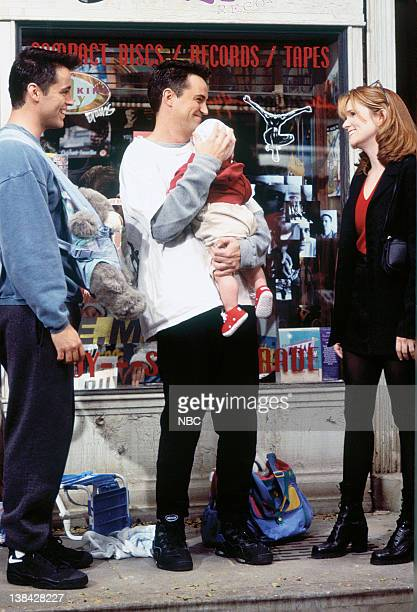 FRIENDS 'The One with the Baby on the Bus' Episode 6 Air Date Pictured Matt Le Blanc as Joey Tribbiani Matthew Perry as Chandler Bing Lea Thompson as...