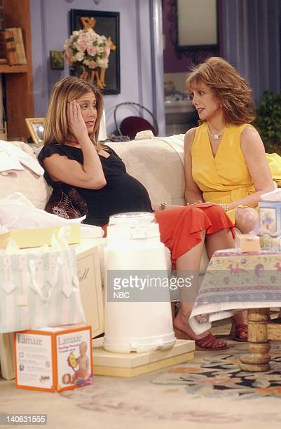 FRIENDS The One With The Baby Shower Episode 20 Aired 4/25/2002 Pictured Jennifer Aniston as Rachel Green Marlo Thomas as Sandra Green Photo by Danny...
