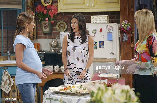 FRIENDS The One With The Baby Shower Episode 20 Aired 4/25/2002 Pictured Jennifer Aniston as Rachel Green Courteney Cox as Monica GellerBing Lisa...