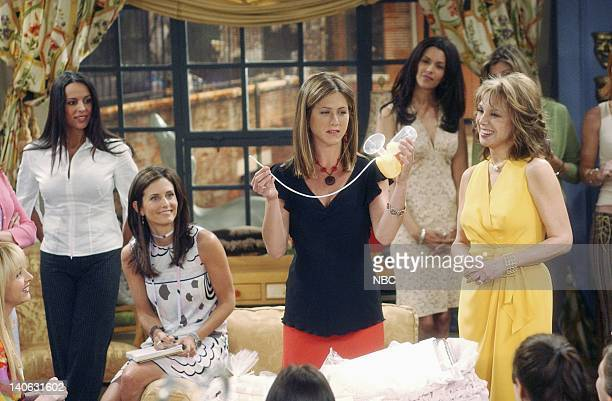 FRIENDS The One With The Baby Shower Episode 20 Aired 4/25/2002 Pictured Courteney Cox as Monica GellerBing Jennifer Aniston as Rachel Photo by Danny...